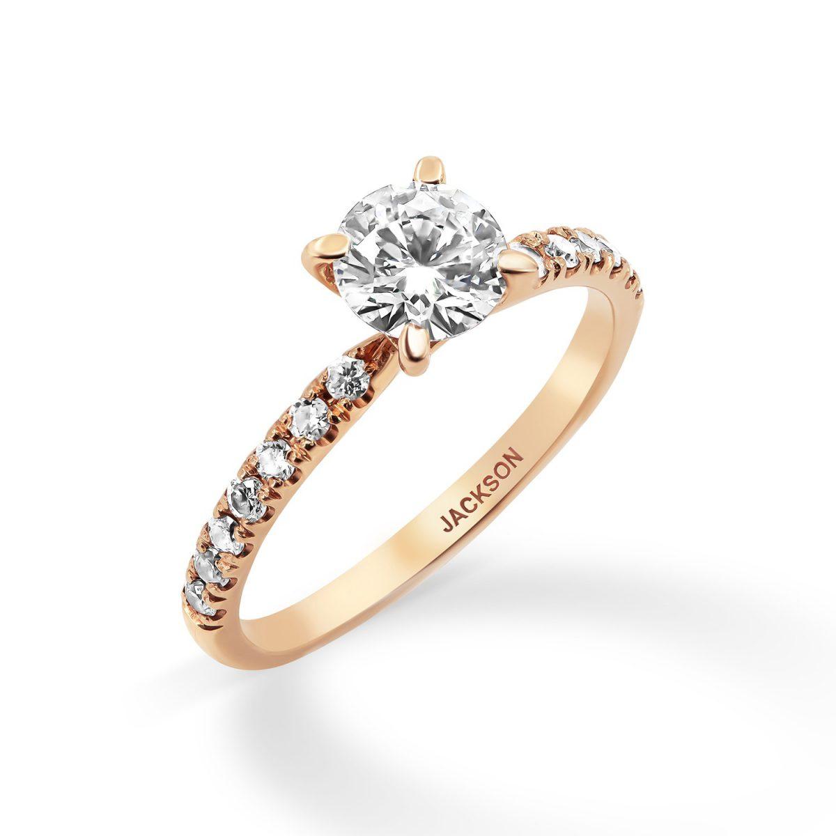 טבעת אירוסין סול זהב אדום