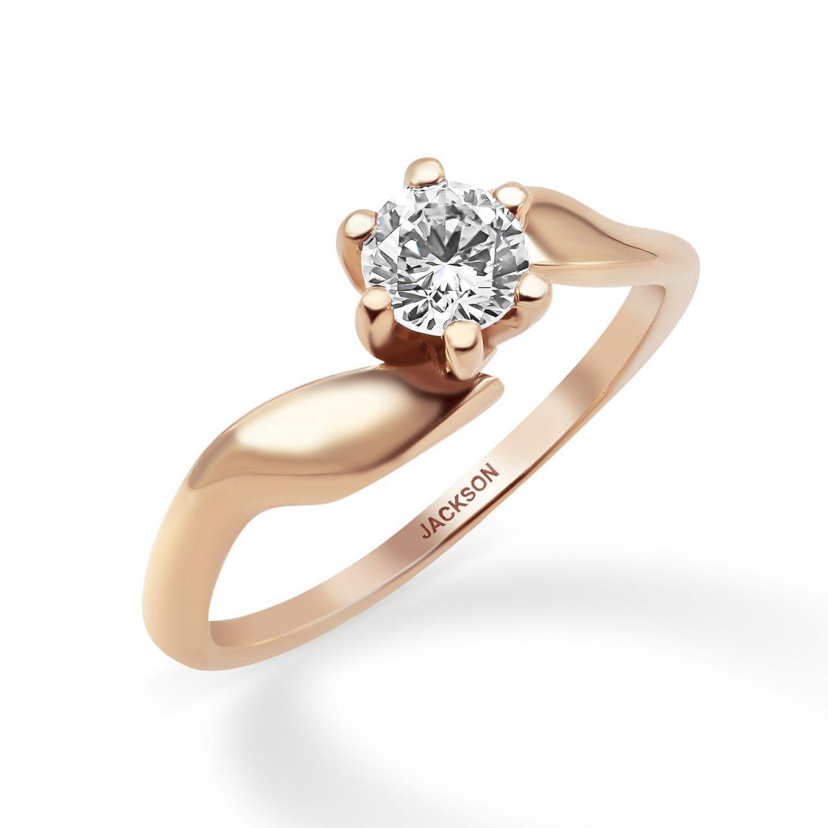 טבעת אירוסין נעמי זהב אדום