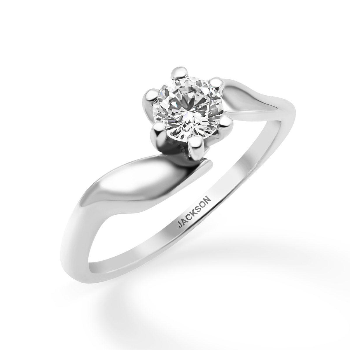 טבעת אירוסין נעמי זהב לבן
