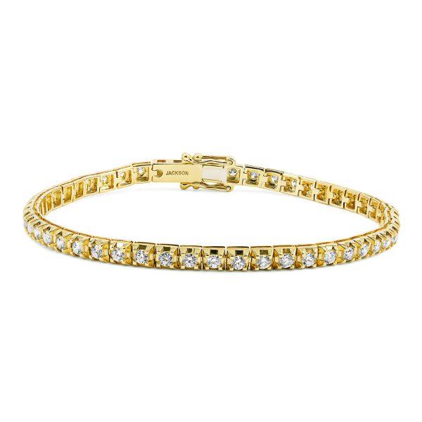 צמיד טניס יהלומים - אור- זהב צהוב