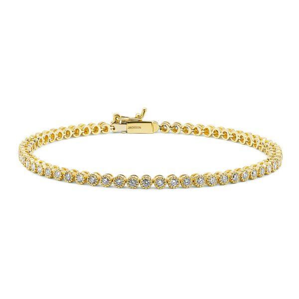 צמיד טניס יהלומים - איב - זהב צהוב