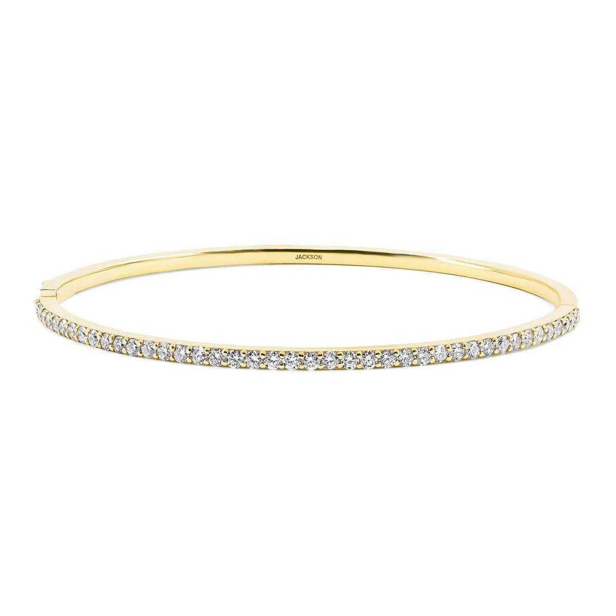 צמיד יהלומים דיאנה - זהב צהוב