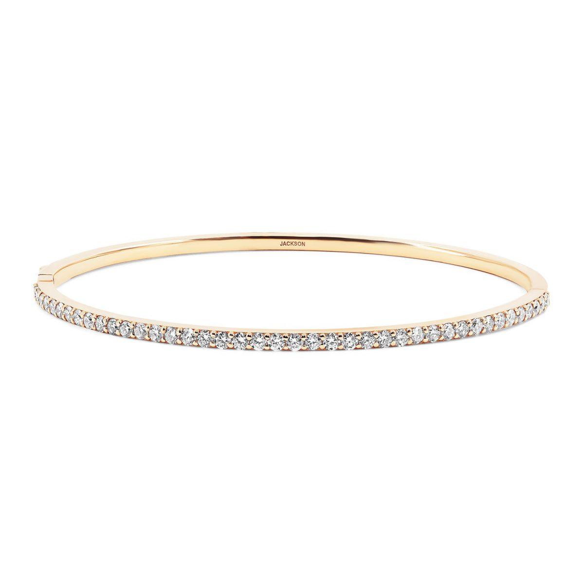 צמיד יהלומים דיאנה - זהב אדום