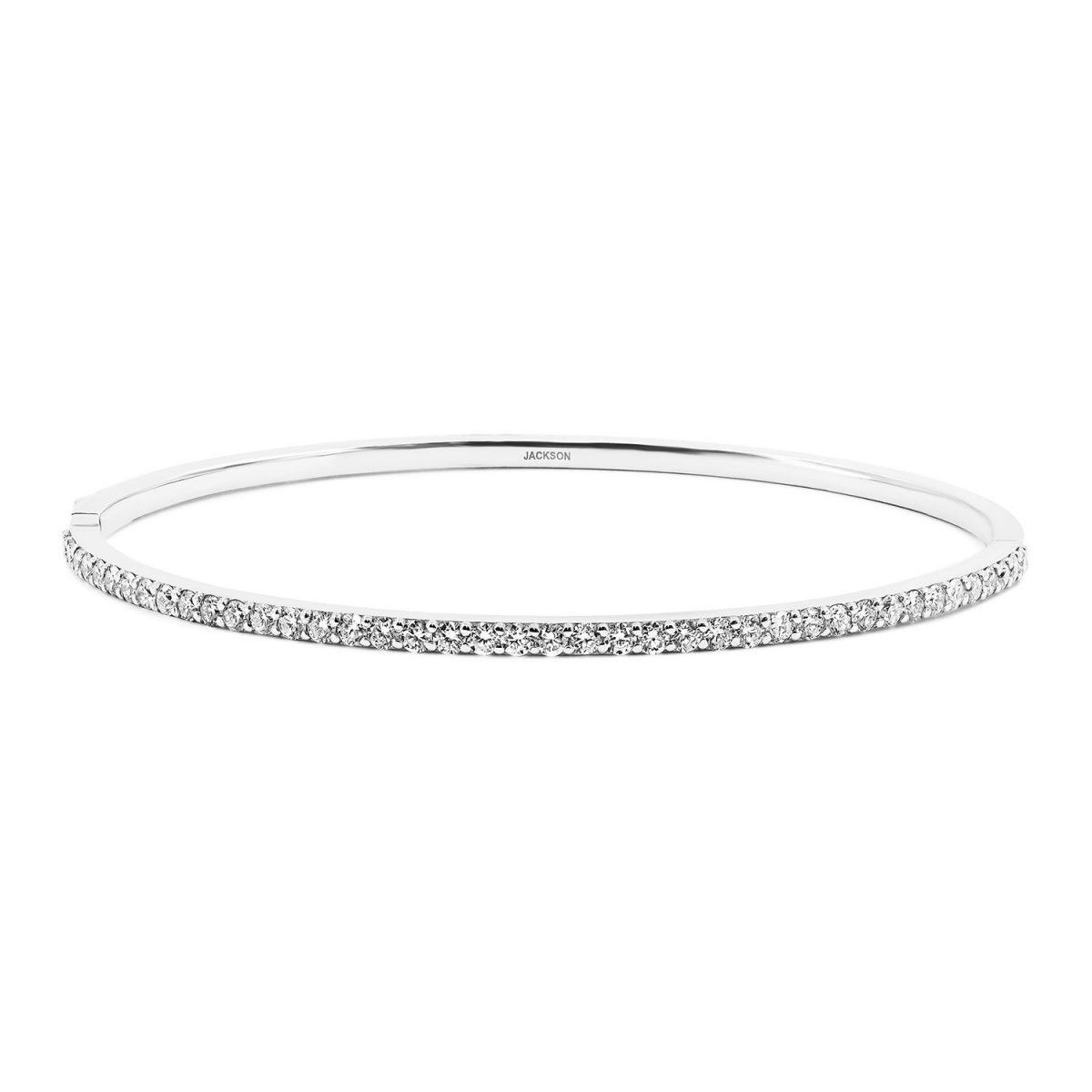 צמיד יהלומים דיאנה - זהב לבן