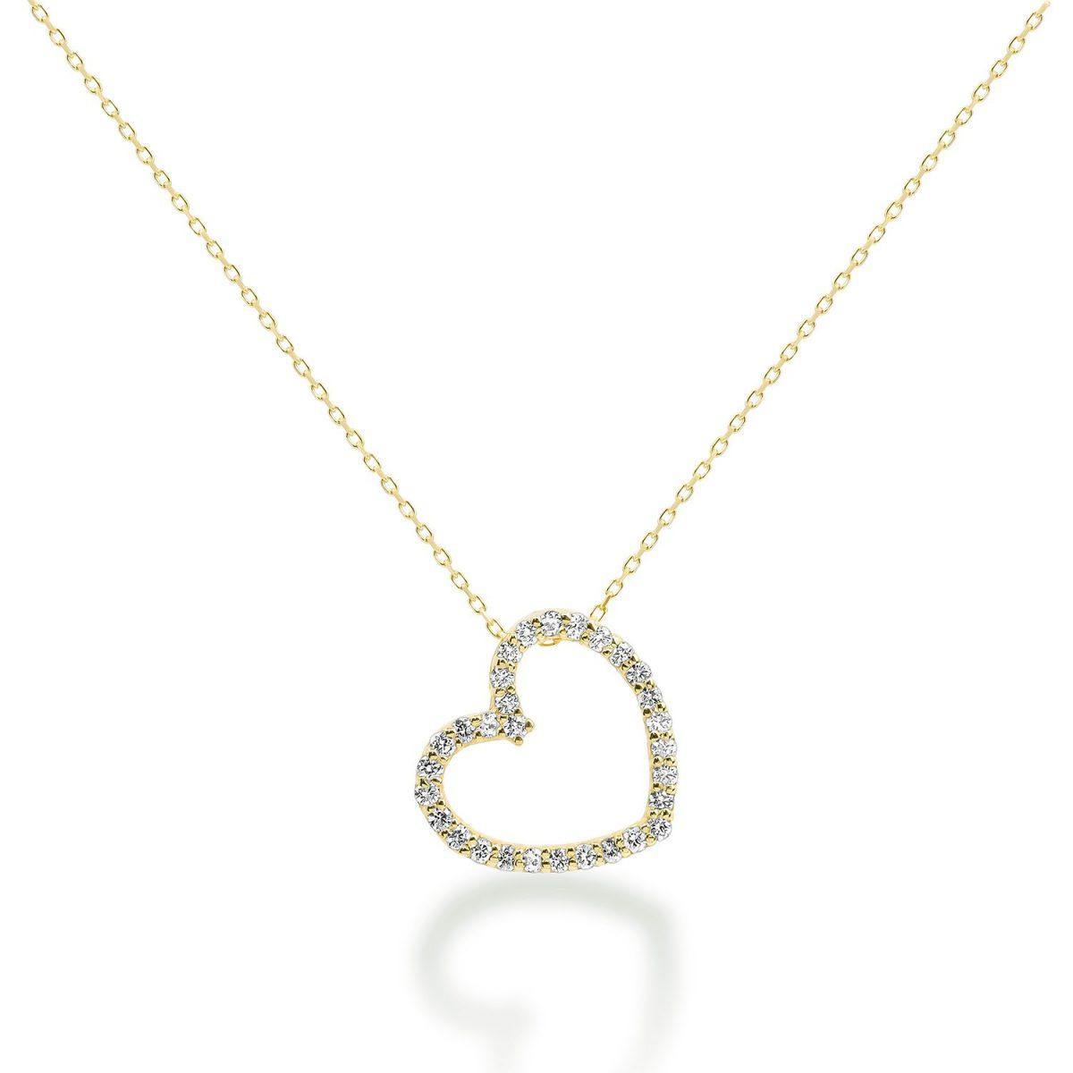 שרשרת יהלומים לב - love