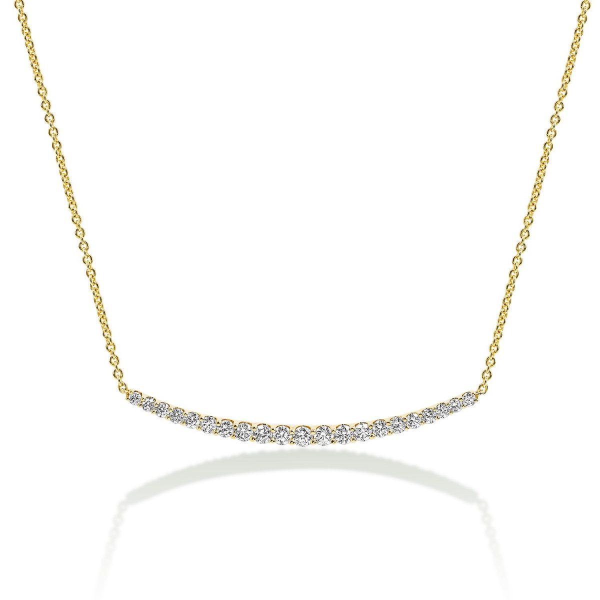 שרשרת יהלומים גרייס - זהב צהוב