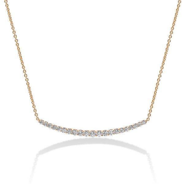 שרשרת יהלומים גרייס - זהב אדום