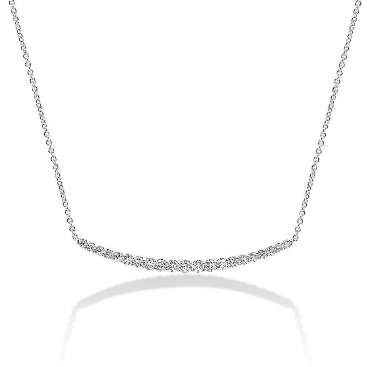 שרשרת יהלומים גרייס - זהב לבן