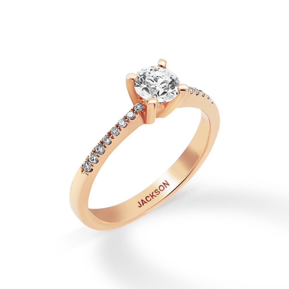 טבעת אירוסין כריסטינה - זהב אדום