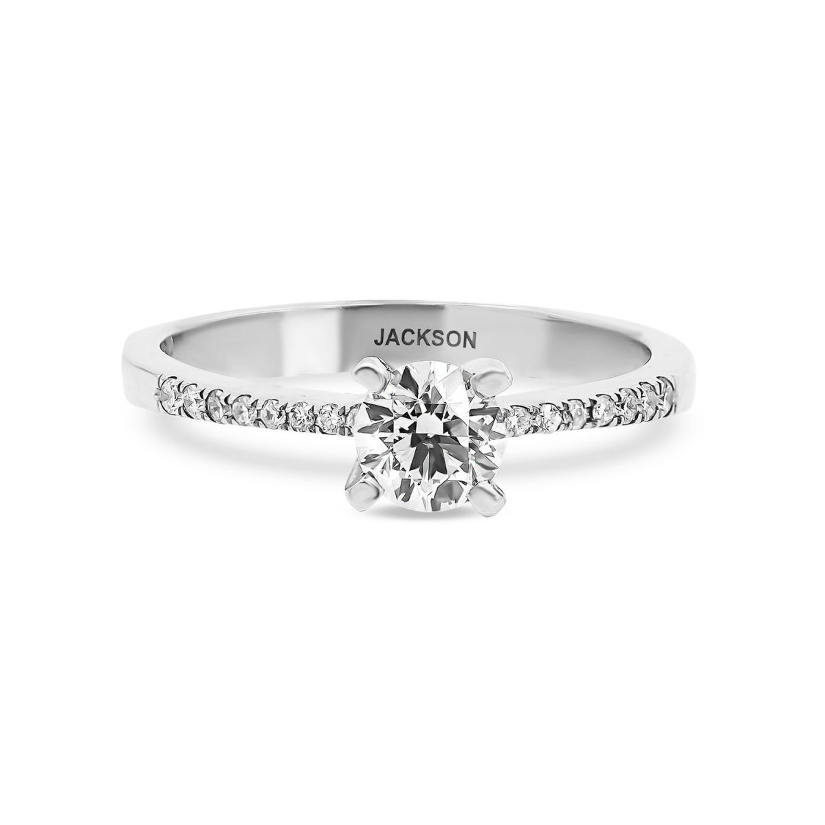 טבעת אירוסין כריסטינה - זהב לבן