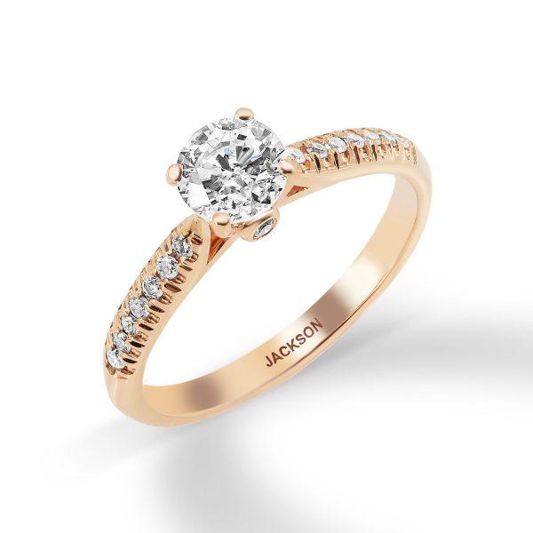 טבעת אירוסין זהב אדום - איתי