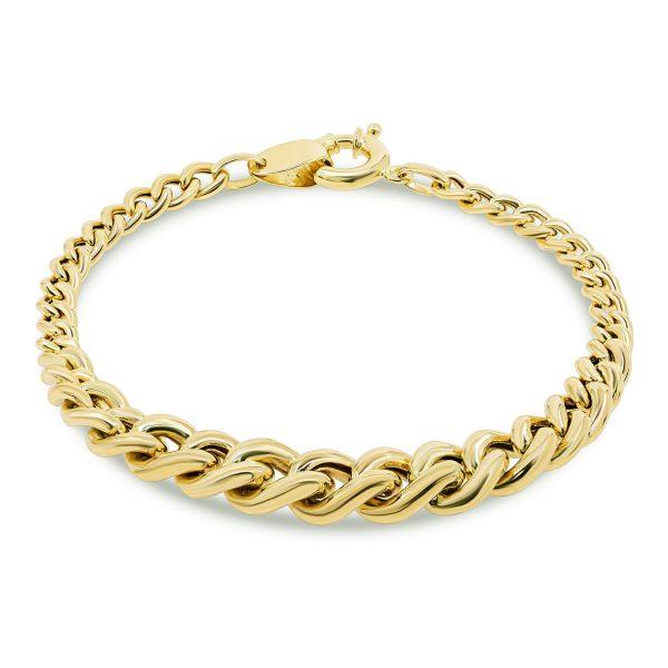 צמיד זהב חוליות מדורג - ניקול
