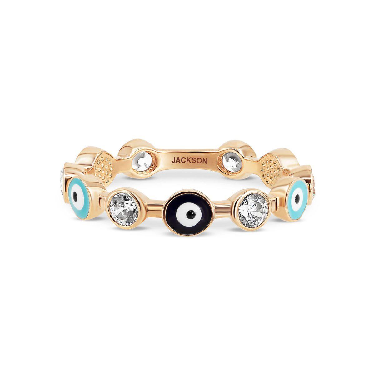 טבעת זהב עיניים - זהב אדום