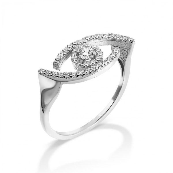 טבעת זהב - עמית - זהב לבן