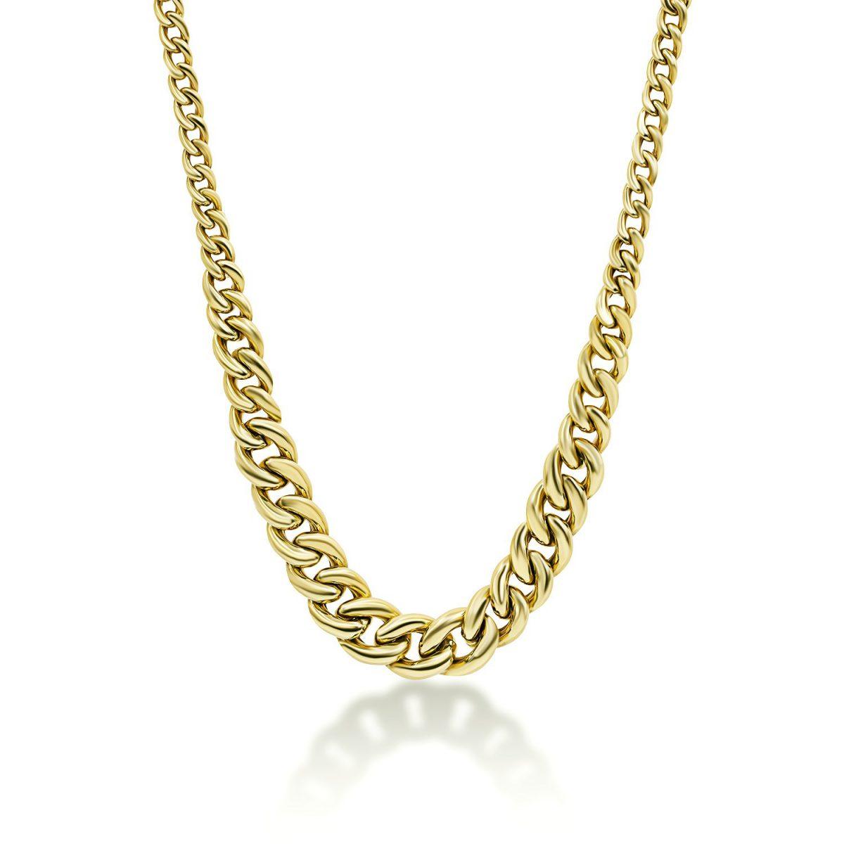 שרשרת זהב דורין - זהב צהוב