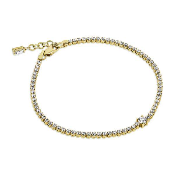 צמיד טניס זהב - ליאה - זהב צהוב