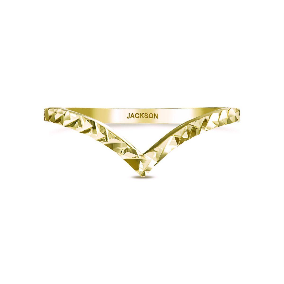 טבעת זהב ויקי - זהב צהוב