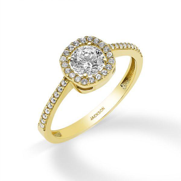 טבעת זהב - מור - זהב צהוב