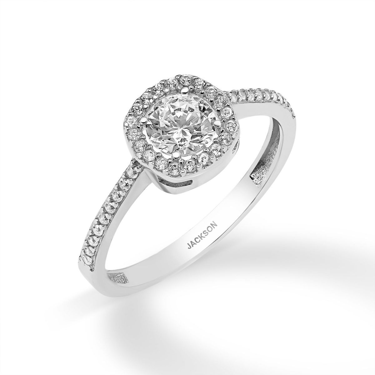 טבעת זהב - מור - זהב לבן
