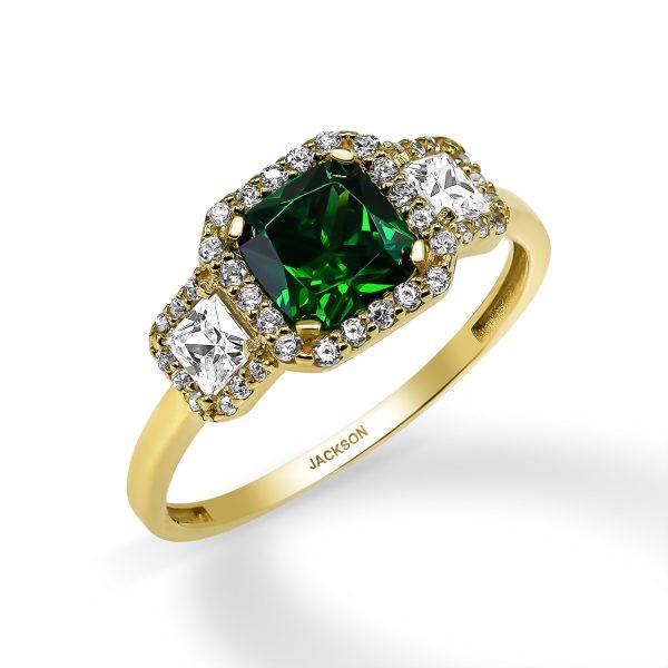 טבעת זהב - עופרי - זהב צהוב