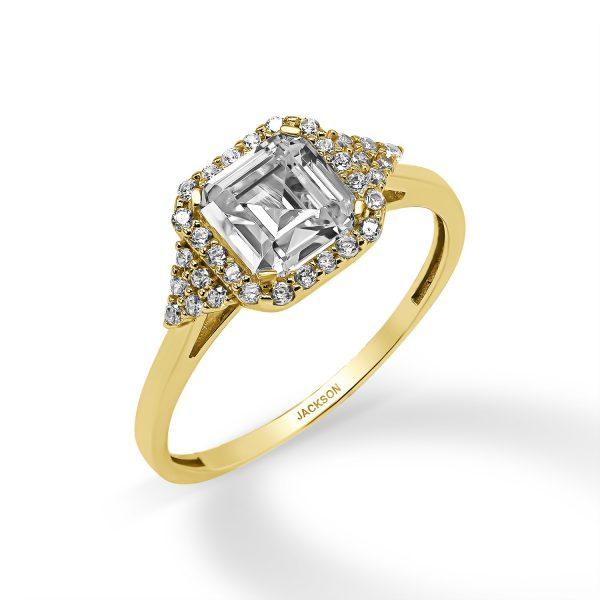 טבעת זהב - רותם - זהב צהוב