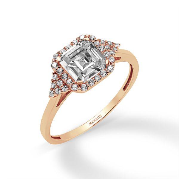 טבעת זהב - רותם - זהב אדום
