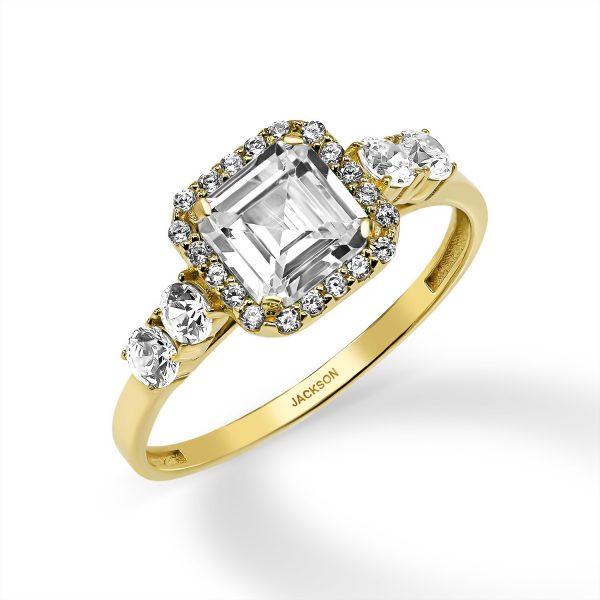 טבעת זהב - רנה - זהב צהוב