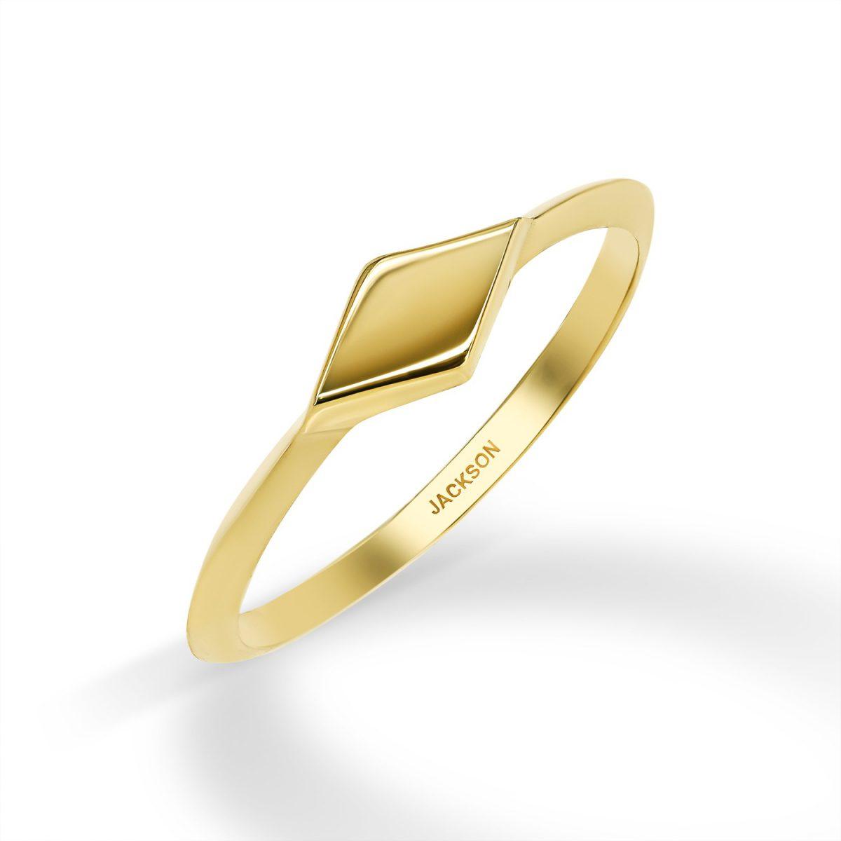 טבעת זהב מורן - זהב צהוב