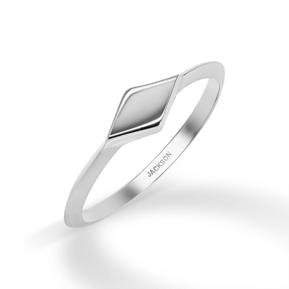 טבעת זהב מורן - זהב לבן