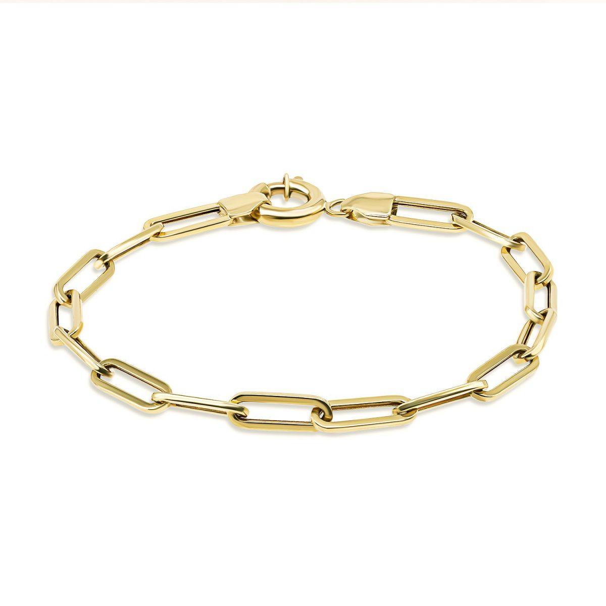 צמיד זהב - דריה - זהב צהוב