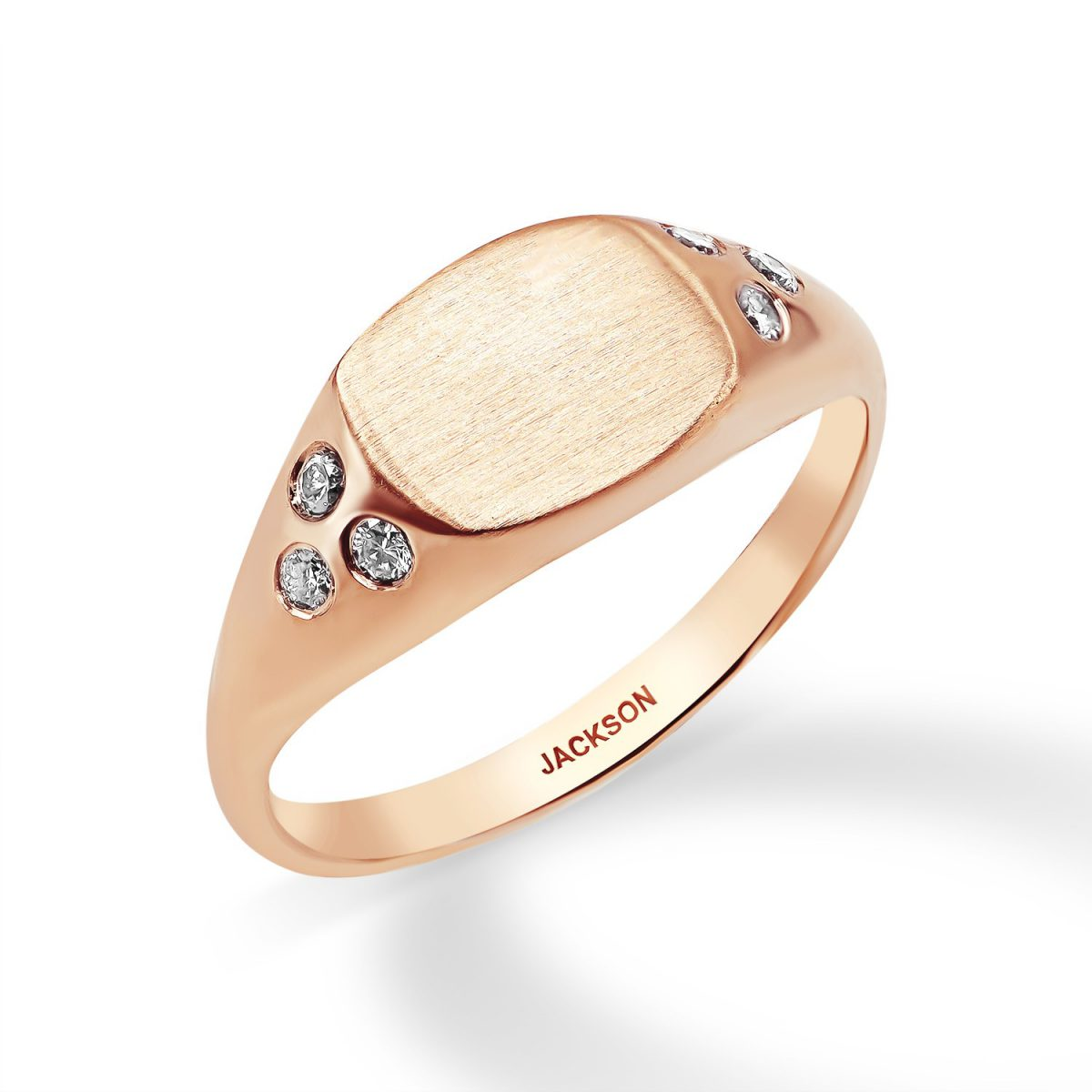 טבעת יהלומים - שריל - זהב אדום