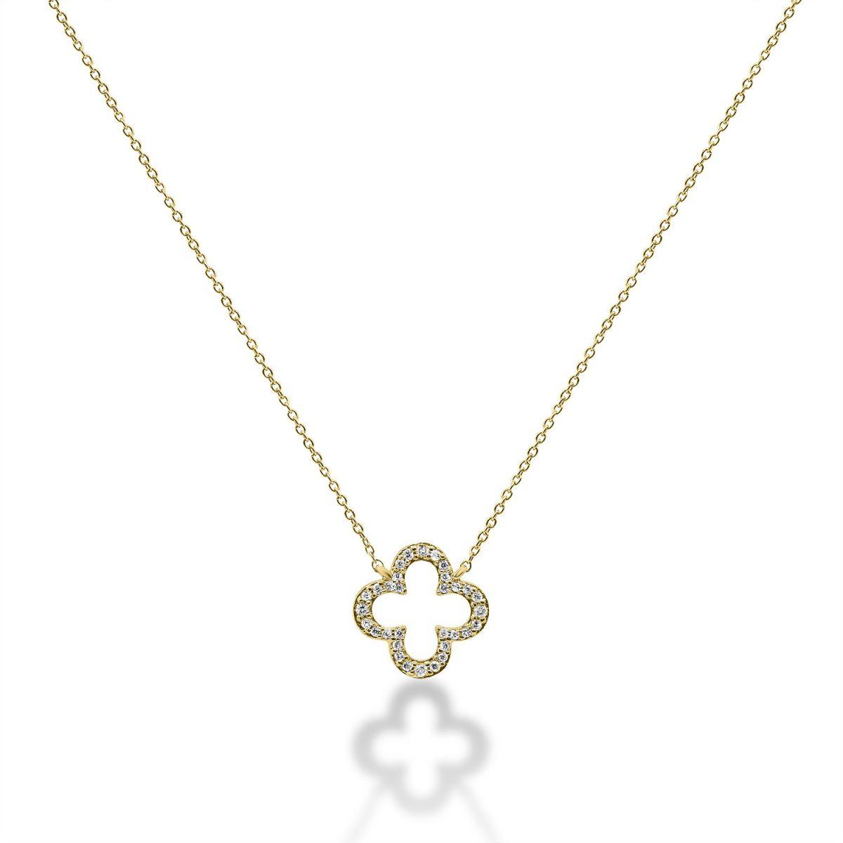 שרשרת יהלומים - לונה - זהב צהוב
