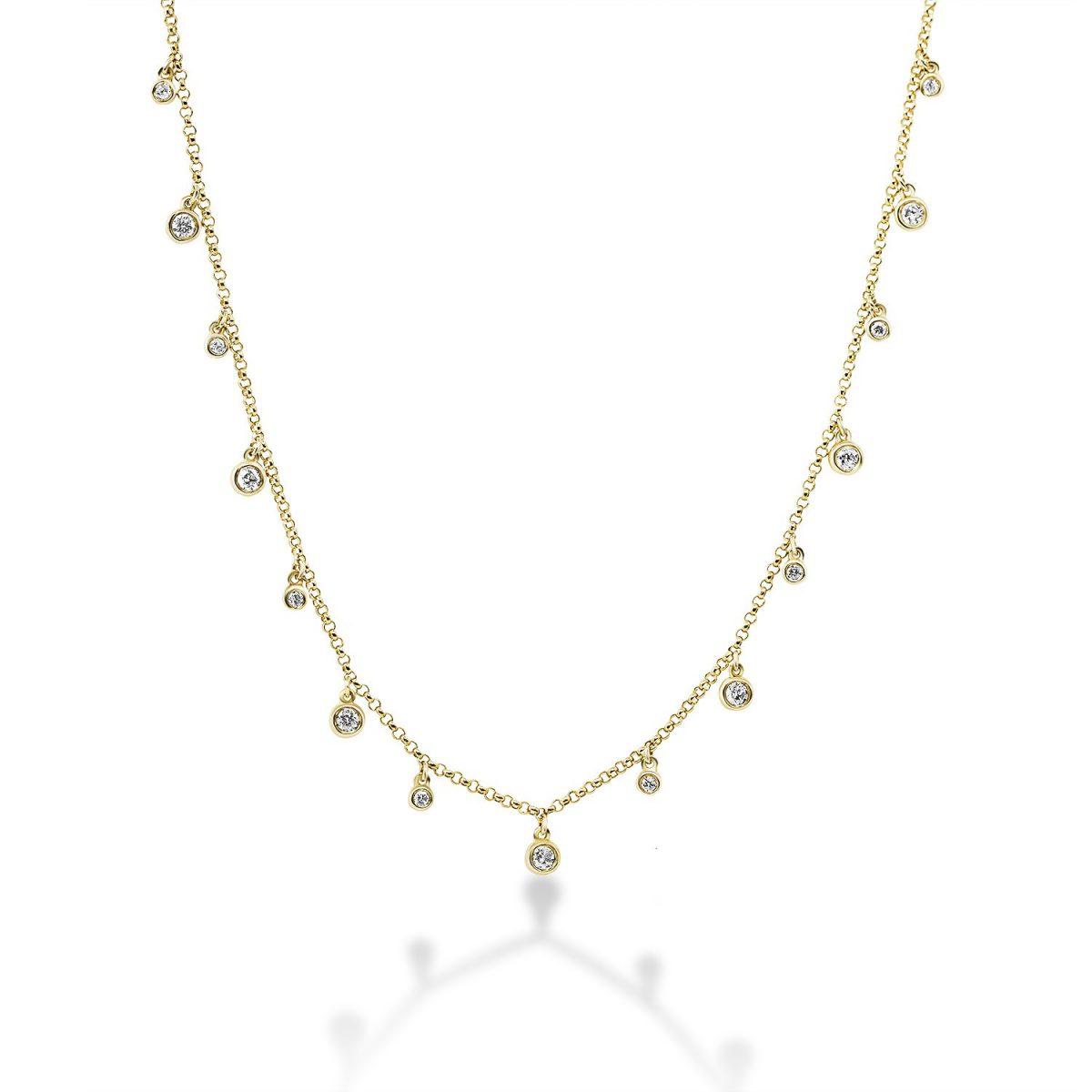 שרשרת יהלומים - ליז - זהב צהוב