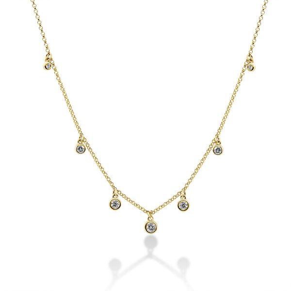 שרשרת יהלומים - ליפז - זהב צהוב