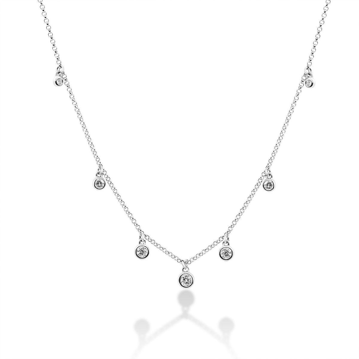 שרשרת יהלומים - ליפז - זהב לבן