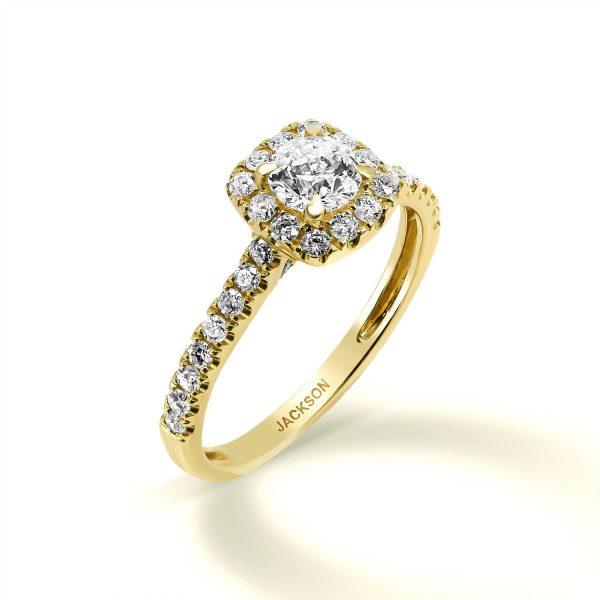 טבעת אירוסין -ג'וליה - זהב צהוב