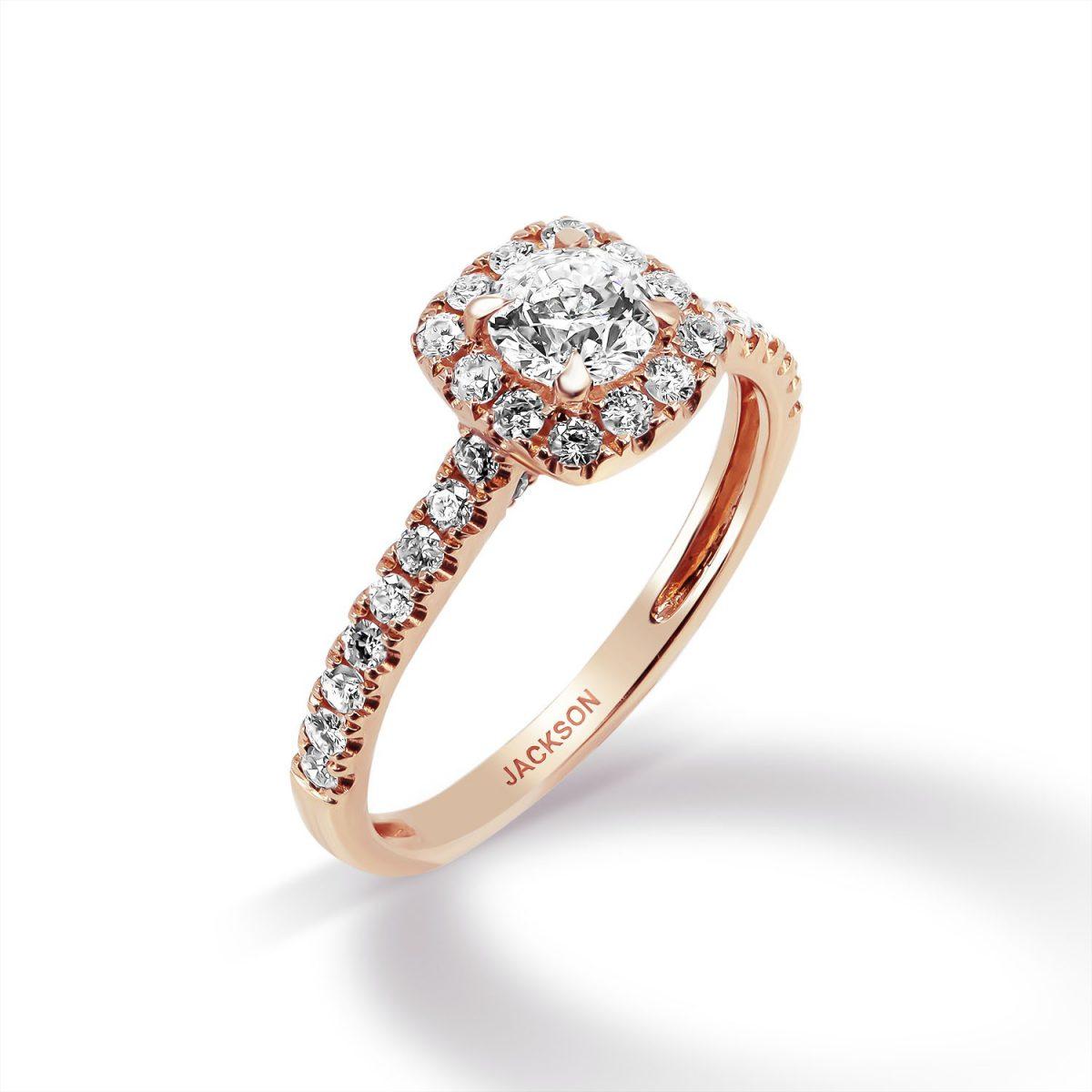 טבעת אירוסין -ג'וליה - זהב אדום
