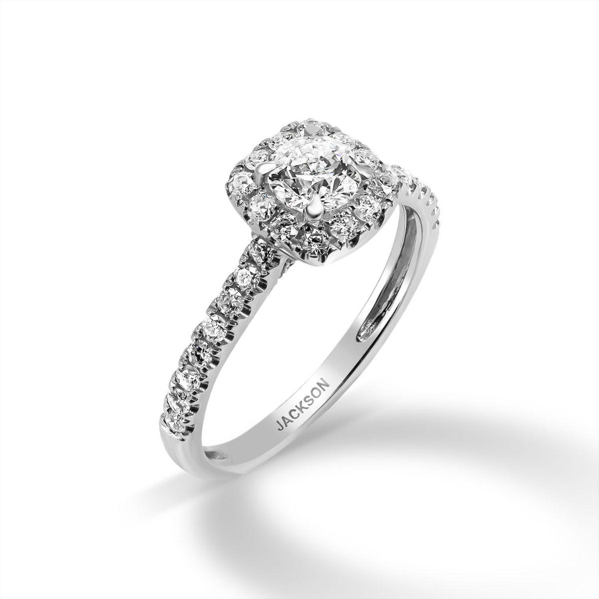 טבעת אירוסין -ג'וליה - זהב לבן