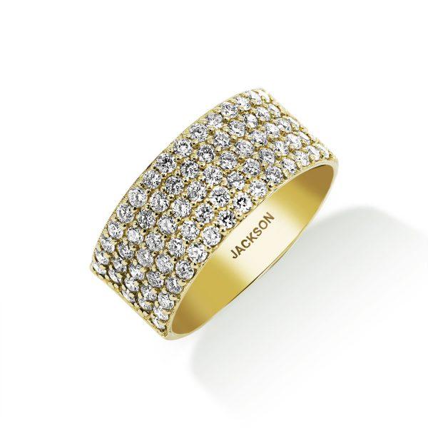 טבעת יהלומים - הלנה - זהב צהוב
