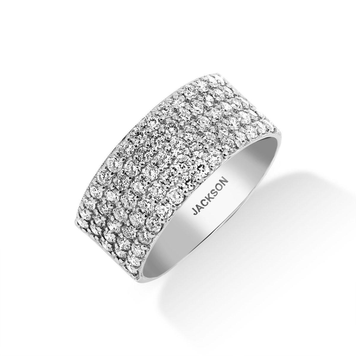 טבעת יהלומים - הלנה - זהב לבן