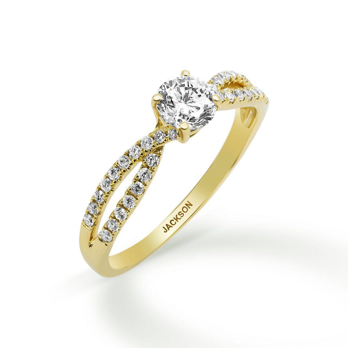 טבעת אירוסין - ולרי - זהב צהוב