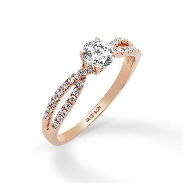 טבעת אירוסין - ולרי - זהב אדום