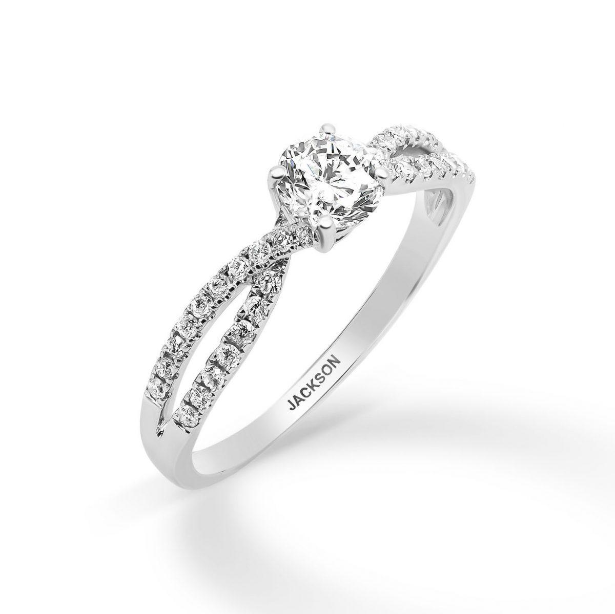 טבעת אירוסין - ולרי - זהב לבן