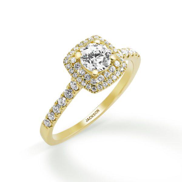 טבעת אירוסין - יהלי - זהב צהוב