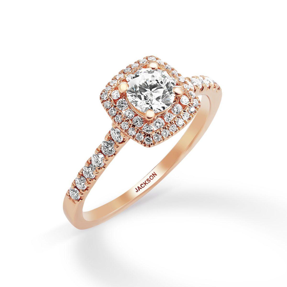 טבעת אירוסין - יהלי - זהב אדום