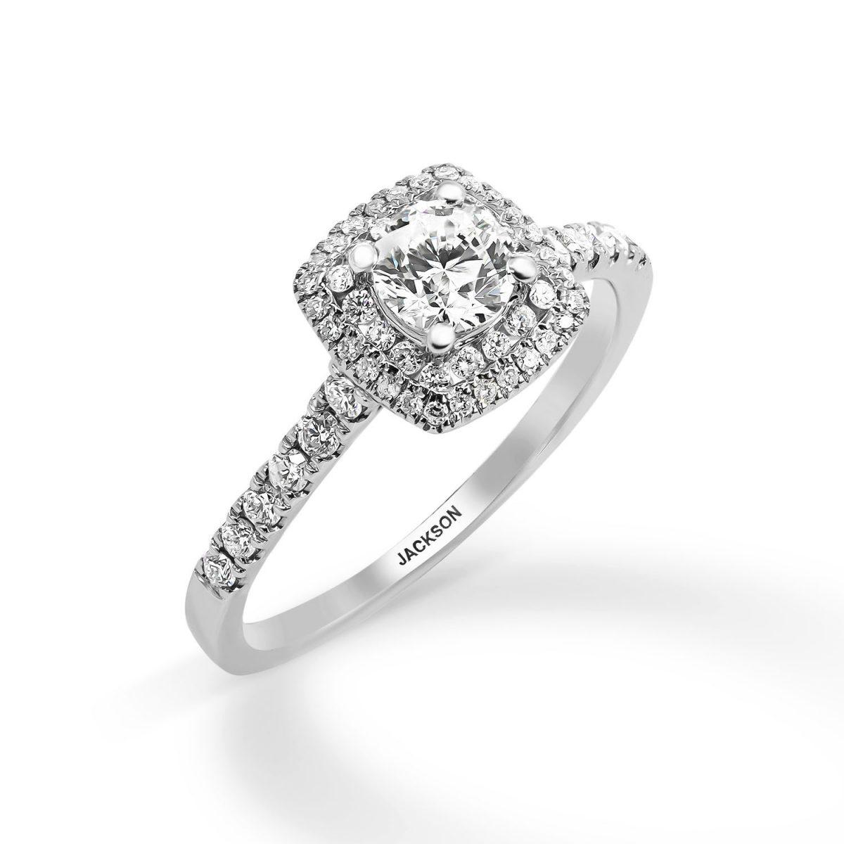 טבעת אירוסין - יהלי - זהב לבן