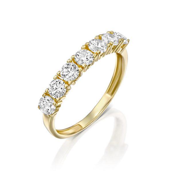 טבעת זהב - נויה - זהב צהוב