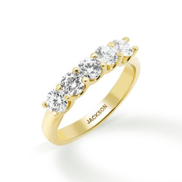 טבעת יהלומים - מיה - זהב צהוב