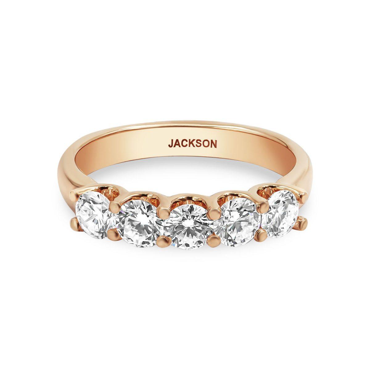 טבעת יהלומים - מיה - זהב אדום