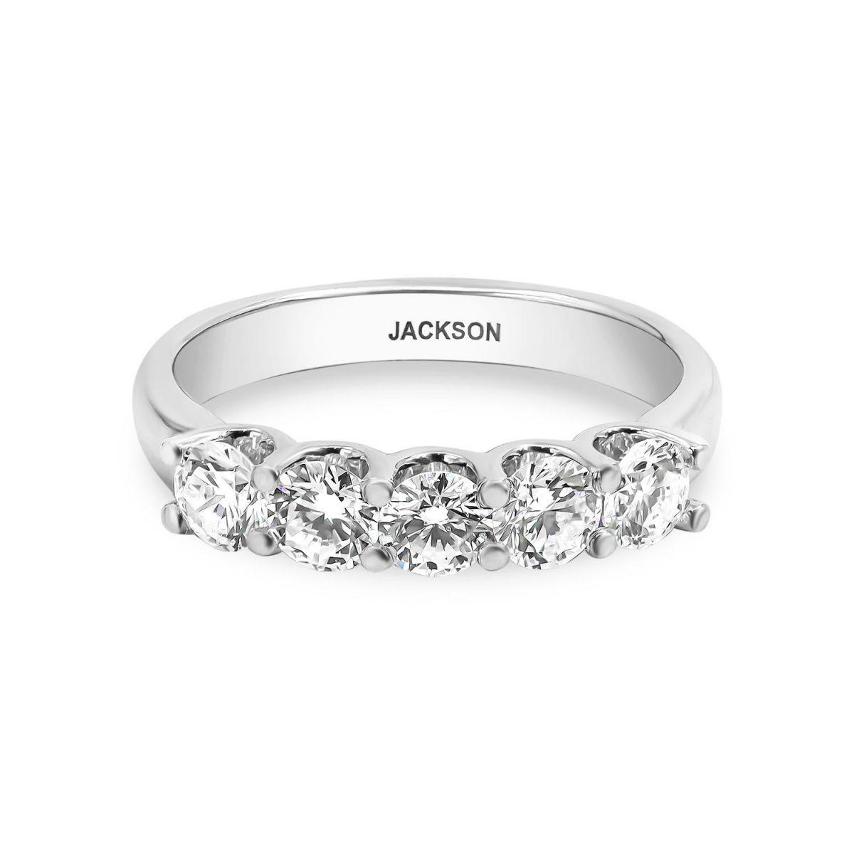 טבעת יהלומים - מיה - זהב לבן